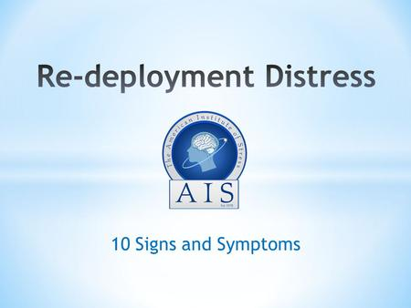 10 Signs and Symptoms. Purpose Terminal & Enabling Learning Objectives Introduction Signs and Symptoms When/Where To Get Help.