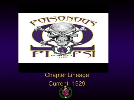 Chapter Lineage Current -1929. Fall 2013 – Q.Q.Q.  Andre Murrell  Ralph Cooper  Junia Findlay  Larry Washington.