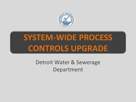 SYSTEM-WIDE PROCESS CONTROLS UPGRADE Detroit Water & Sewerage Department.