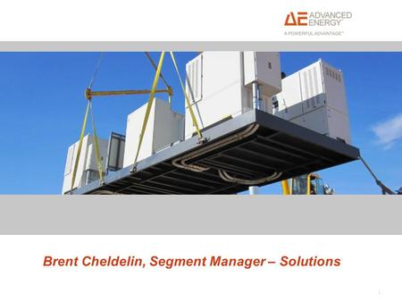 1 Brent Cheldelin, Segment Manager – Solutions. Solar Energy Markets – power levels and market segments Solar PV power conversion and architecture solutions.