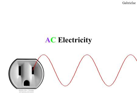 "AC Electricity Gabrielse. DC voltage from a battery Gabrielse Measure the voltage of a battery over and over again. A ""DC"" voltage does not change in."
