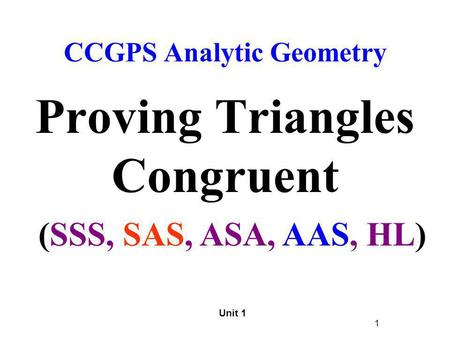 Proving Triangles Congruent Ppt Video Online Download