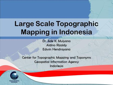 Large Scale Topographic Mapping in Indonesia