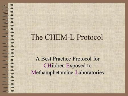 The CHEM-L Protocol A Best Practice Protocol for CHildren Exposed to Methamphetamine Laboratories.