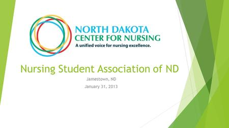 Nursing Student Association of ND Jamestown, ND January 31, 2013.