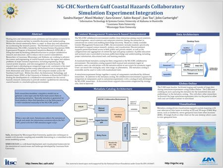 NG-CHC Northern Gulf Coastal Hazards Collaboratory Simulation Experiment Integration Sandra Harper 1, Manil Maskey 1, Sara Graves 1, Sabin Basyal 1, Jian.