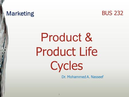 Product & Product Life Cycles