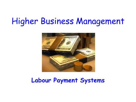 Higher Business Management