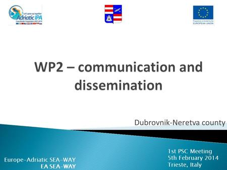WP2 – communication and dissemination