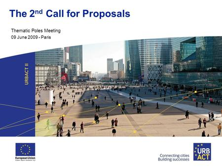 The 2 nd Call for Proposals Thematic Poles Meeting 09 June 2009 - Paris.