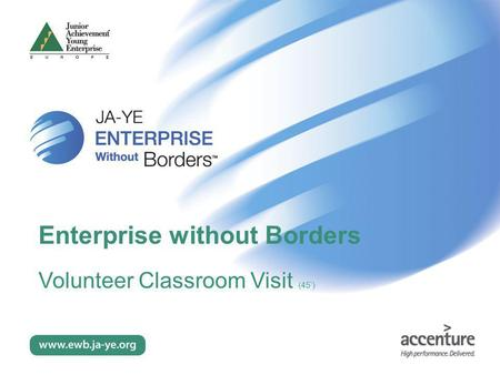 Enterprise without Borders Volunteer Classroom Visit (45')