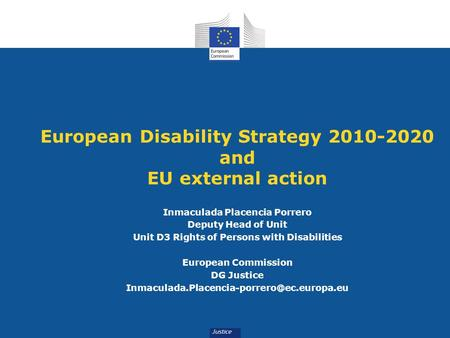 European Disability Strategy and EU external action