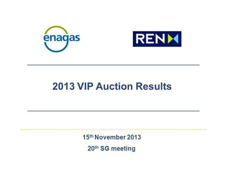 15 th November 2013 20 th SG meeting 2013 VIP Auction Results.