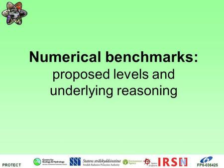Numerical benchmarks: proposed levels and underlying reasoning