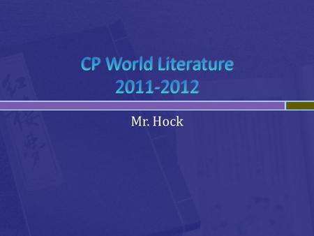 Mr. Hock.  Phone: 720 972 6384     Office Hours: 5th and 6 th hours, south teacher work area.