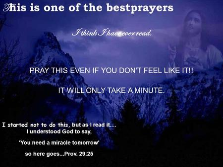 This is one of the bestprayers