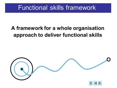 Functional skills framework A framework for a whole organisation approach to deliver functional skills.