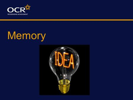 Memory A Memory Experiment Shortly, you will be shown a series of items. Watch carefully, as you will be asked to recall as many of them as you can at.