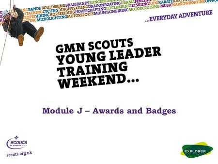 Module J – Awards and Badges. Membership and Moving-On Awards Membership Badge - presented when you have taken your promise and become a Member of The.
