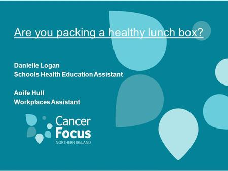 Are you packing a healthy lunch box?