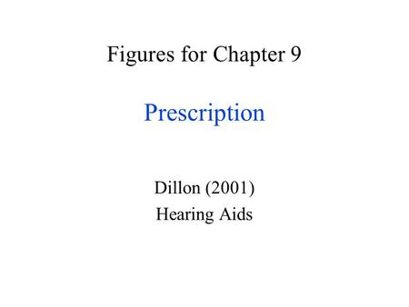 Figures for Chapter 9 Prescription