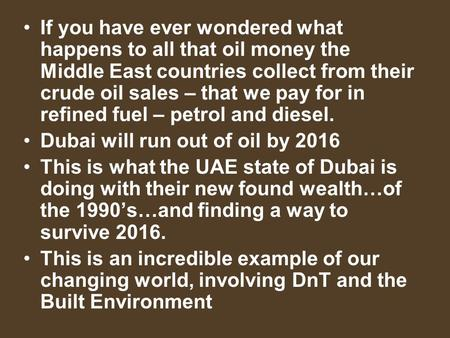 If you have ever wondered what happens to all that oil money the Middle East countries collect from their crude oil sales – that we pay for in refined.