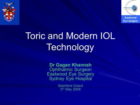 Toric and Modern IOL Technology