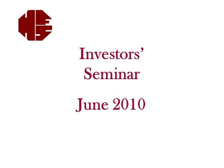 Investors' Seminar June 2010. Disclaimer This is not Advice. Please see Mark before considering any changes. Mark will put any recommendations in writing.