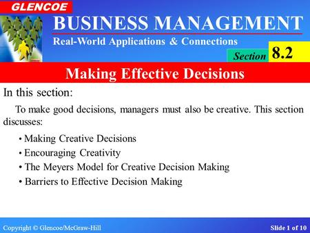 In this section: The Meyers Model for Creative Decision Making