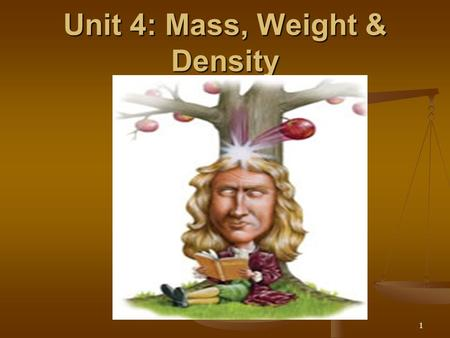 Unit 4: Mass, Weight & Density