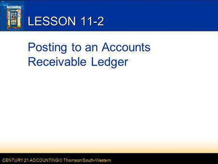 Posting to an Accounts Receivable Ledger