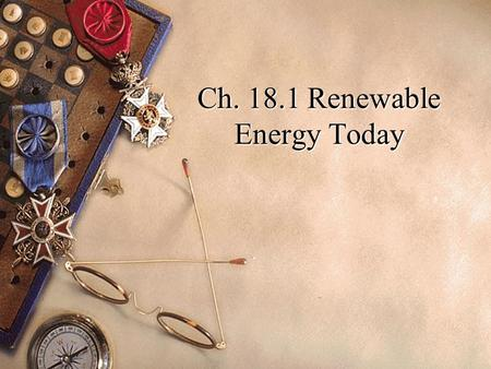 Ch Renewable Energy Today