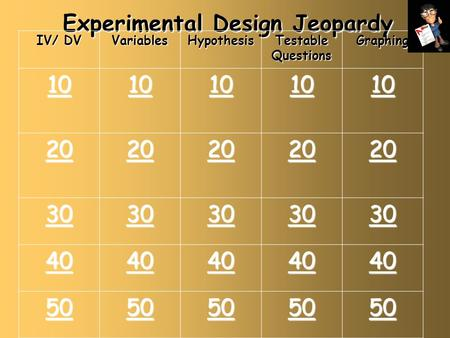 Experimental Design Jeopardy