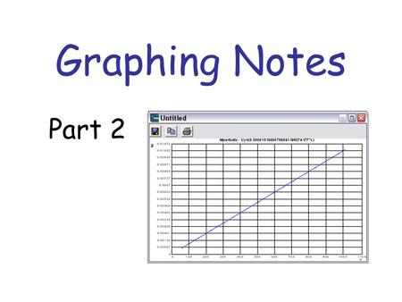 Graphing Notes Part 2. Patterns When you graph data, you can identify what the pattern or trend of the data is.