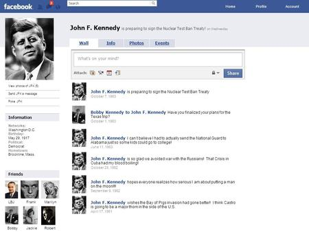 Facebook John F. Kennedy is preparing to sign the Nuclear Test Ban Treaty! on Wednesday Home ProfileAccount View photos of JFK (5) Send JFK a message Poke.