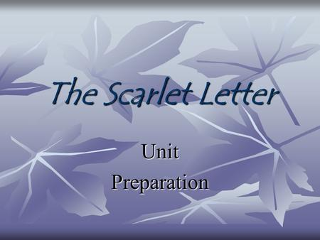 The Scarlet Letter UnitPreparation. What would you do? Consider the following situations. What do your personal ethics suggest?