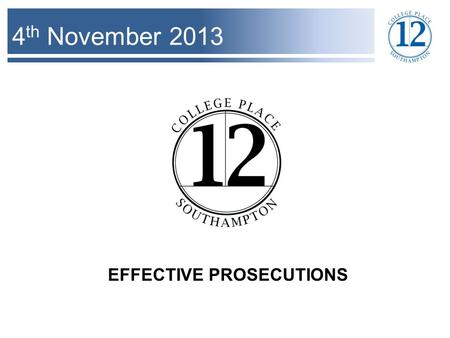 4 th November 2013 EFFECTIVE PROSECUTIONS. Interviews and PACE – Code E Code E 4.5 CAUTION THE SUSPECT REMIND THEM OF THEIR ENTITLEMENT TO [FREE] LEGAL.