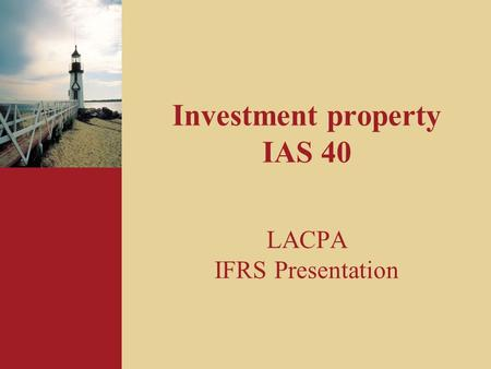 Investment property IAS 40