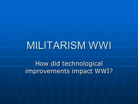 how did world war i impact World war i was a transformative moment in african-american history what began as a seemingly distant european conflict soon became an event with revolutionary implications for the social, economic, and political future of black people.