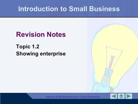 Introduction to Small Business