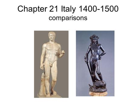 Chapter 21 Italy comparisons