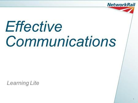 1 Effective Communications Learning Lite. 2 What is Communication? Communication is a way of making ourselves understood; without it we would not be able.