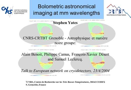 Bolometric astronomical imaging at mm wavelengths