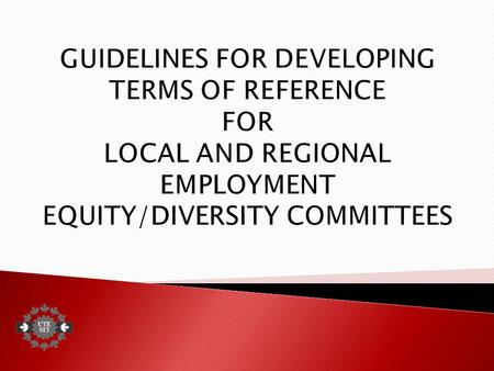  To facilitate the implementation of employment equity and the communication to employees of matters relating to employment equity and diversity.
