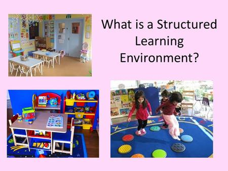 What is a Structured Learning Environment?. The Typical Cedar Lane Classroom Personal care opportunities limited due to schedule Limited Mobility opportunities.