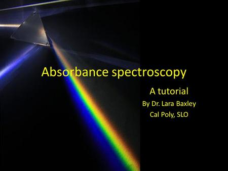 Absorbance spectroscopy