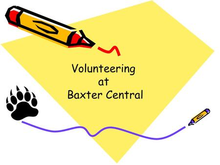 Volunteering at Baxter Central.
