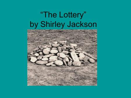 analysis of the short story the lottery by shirley jackson as the allegory for the holocaust Shirley jackson's 'the lottery' is a classic american short story known for its shocking twist ending and its insightful commentary on cultural traditions it was originally printed in the new.