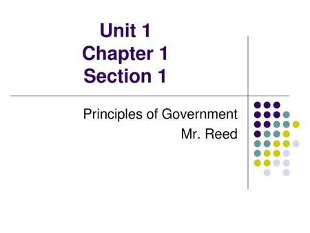 SUBJECT: GOVERNMENT CLASS: SS1 WEEK : 1 PERIOD:1 & 2 TOPIC: THE ...