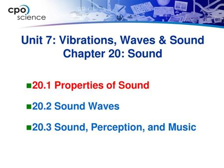 Chapter 15 Sound 15 1 Properties of Sound 15 2 Sound Waves - ppt
